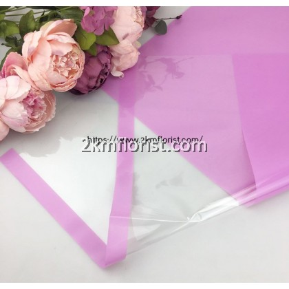 WTpt Transparent Waterproof Flower Wrapping Paper