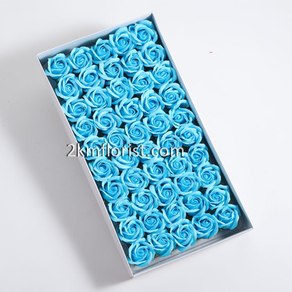 50pcs Rose Soap Flower 3 Layer With BASE BARE Simulation Soap Flower Rose Head DIY Soap Base Part 2